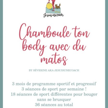 "Ebook2  : ""Chamboule ton body avec du matos"" – le programme"
